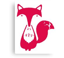 Monsieur Fox- Rouge Canvas Print