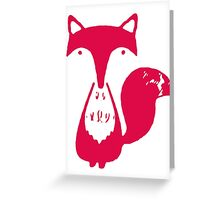 Monsieur Fox- Rouge Greeting Card