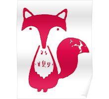 Monsieur Fox- Rouge Poster