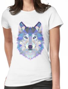 Triangle wolf Womens Fitted T-Shirt