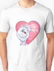 White Pomeranian Valentine's Day Unisex T-Shirt