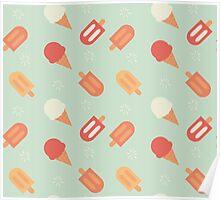 Ice cream pattern Poster