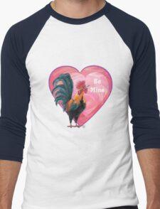 Rooster Valentine's Day Men's Baseball ¾ T-Shirt