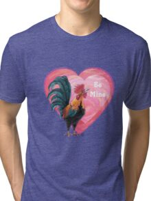 Rooster Valentine's Day Tri-blend T-Shirt