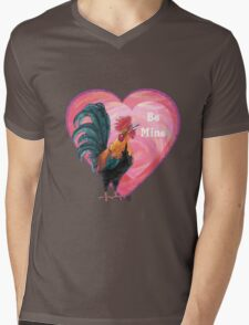 Rooster Valentine's Day Mens V-Neck T-Shirt