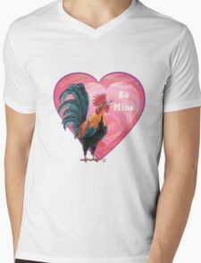 Rooster Valentine's Day Mens V-Neck T-Shirt