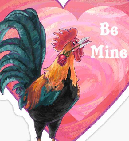 Rooster Valentine's Day Sticker