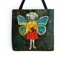 Katie Butterfly Collage Tote Bag