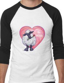 Sheep Valentine's Day Men's Baseball ¾ T-Shirt