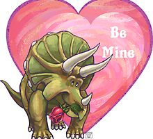 Triceratops Valentine's Day by ImagineThatNYC