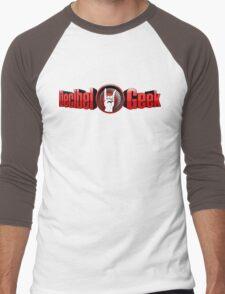 Decibel Geek 3D Logo Men's Baseball ¾ T-Shirt