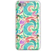 Party Confetti Ribbon Watercolor Design iPhone Case/Skin