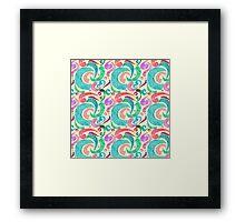Party Confetti Ribbon Watercolor Design Framed Print