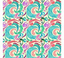 Party Confetti Ribbon Watercolor Design Photographic Print