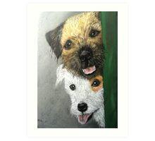 Max & Paddy  Art Print