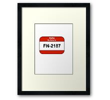My name is 2187 Framed Print