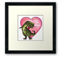 Tyrannosaurus Valentine's Day Framed Print