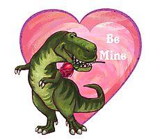 Tyrannosaurus Valentine's Day Photographic Print