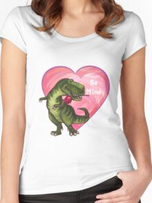 Tyrannosaurus Valentine's Day Women's Fitted Scoop T-Shirt