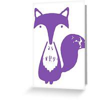 Monsieur Fox- Violét Greeting Card
