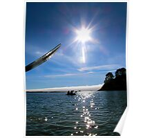 Kayaking California Coast Poster