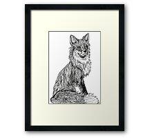 Ink Drawing Fox Framed Print