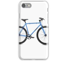 Blue bicycle iPhone Case/Skin