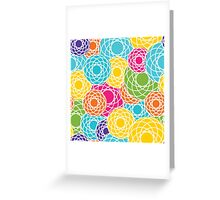 Abstract Seamless Floral Background  Greeting Card