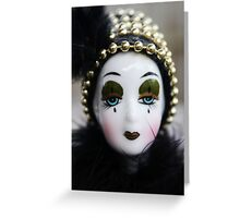 Porcelain Doll Face Greeting Card