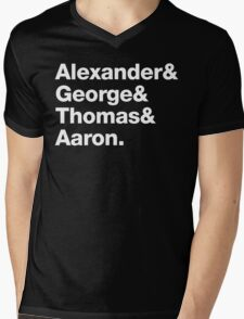 Alexander & George & Thomas & Aaron Mens V-Neck T-Shirt