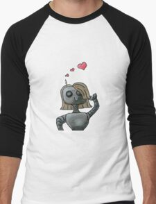 Love On My Mechanical Mind Men's Baseball ¾ T-Shirt