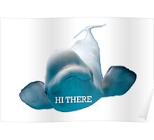 Hi There Beluga Whale Poster