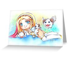 Angel Lux Greeting Card
