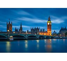Houses of Parliament at Night Photographic Print