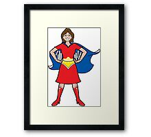 Super librarian! Framed Print
