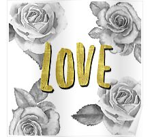 Love golden Poster