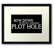 BOW DOWN (Black) Framed Print