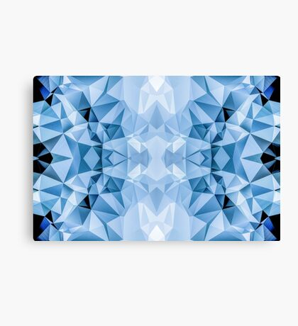 Blue Polygon Canvas Print
