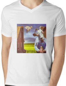 FARMER GOAT Mens V-Neck T-Shirt