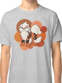 Arcanine On Bubble Background Classic T-Shirt