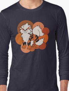Arcanine On Bubble Background Long Sleeve T-Shirt