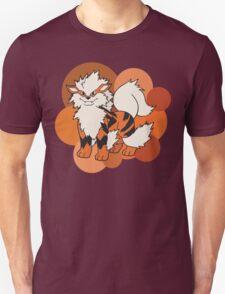 Arcanine On Bubble Background T-Shirt