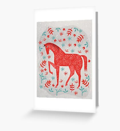 The Red Horse Greeting Card