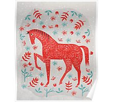 The Red Horse Poster