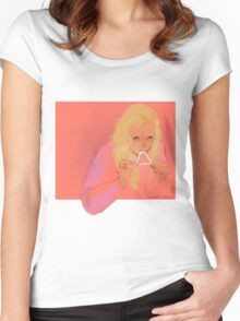 triangle eater Women's Fitted Scoop T-Shirt