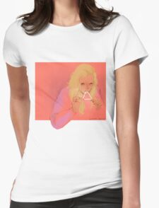 triangle eater Womens Fitted T-Shirt
