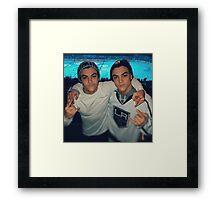 Dolan twins (hockey game) Framed Print