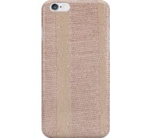 Beige fabric iPhone Case/Skin