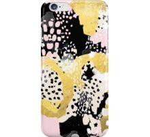 Simone - abstract painting gold foil trendy hipster pastel pink modern trendy colors decor college iPhone Case/Skin