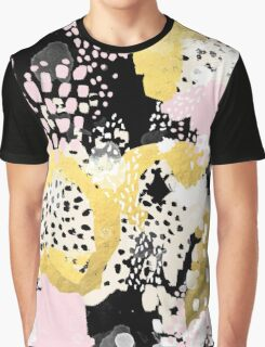 Simone - abstract painting gold foil trendy hipster pastel pink modern trendy colors decor college Graphic T-Shirt